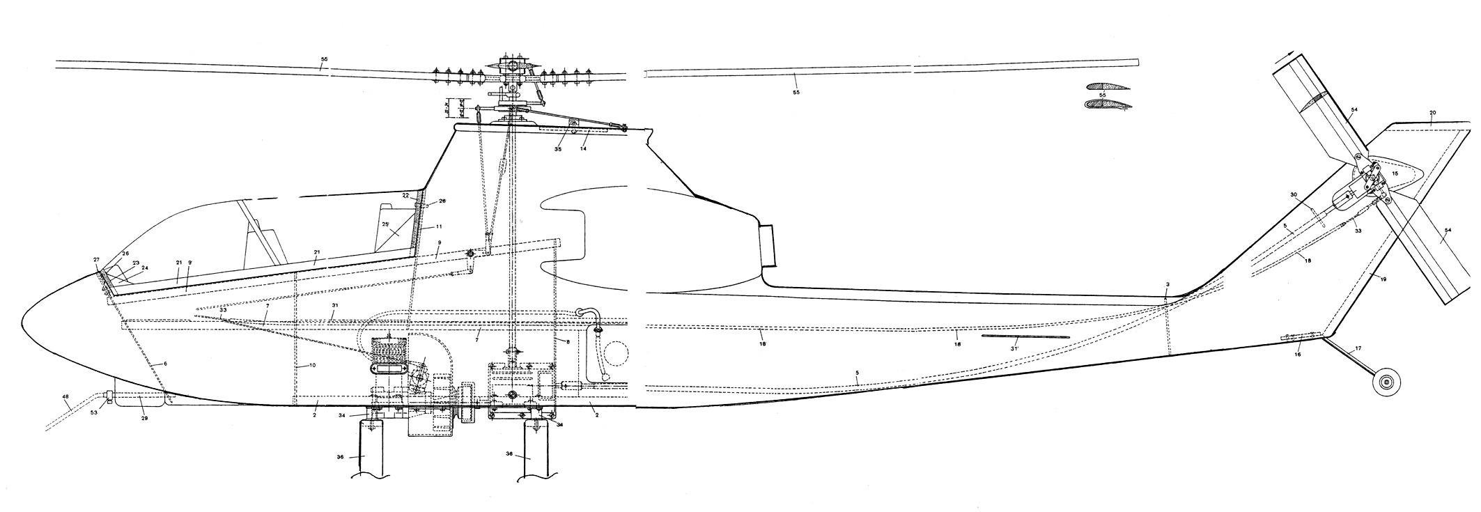 Вертолет чертежи своими руками